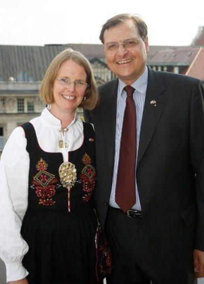 Honorarkonsul Max Aschenbrenner und Frau Reidun Alvestad-Aschenbrenner